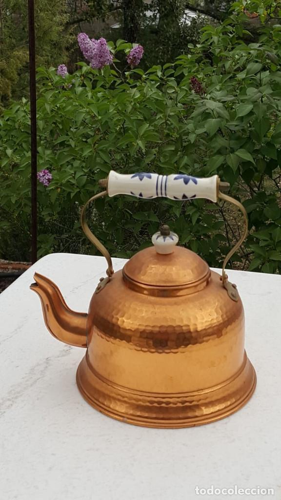 TETERA DE COBRE (Antigüedades - Técnicas - Rústicas - Utensilios del Hogar)