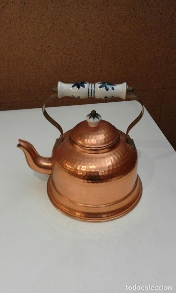 Antigüedades: Tetera de cobre - Foto 3 - 160429894