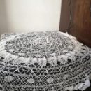 Antigüedades: MANTEL GANCHILLO REDONDO. Lote 160472098