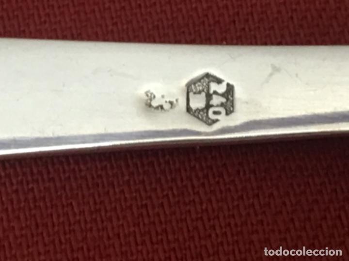Antigüedades: Jarrón florero Búcaro plata ley 925 Medida 13x22 cmts - Foto 5 - 160472286