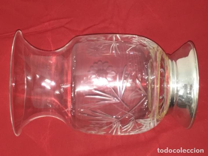 Antigüedades: Jarrón florero Búcaro plata ley 925 Medida 13x22 cmts - Foto 9 - 160472286