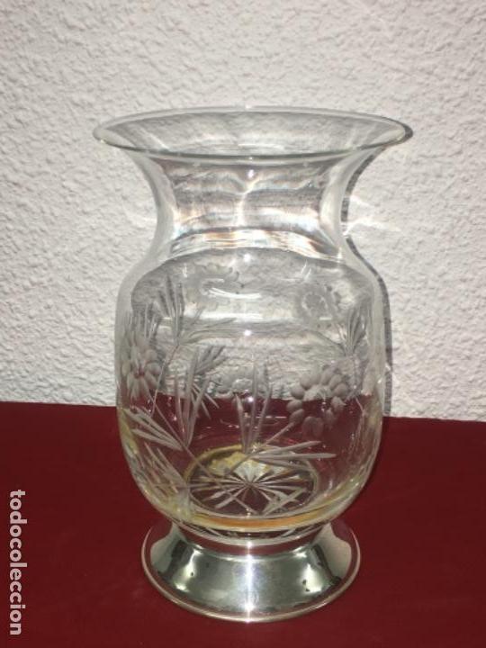 JARRÓN FLORERO BÚCARO PLATA LEY 925 MEDIDA 13X22 CMTS (Antigüedades - Hogar y Decoración - Floreros Antiguos)