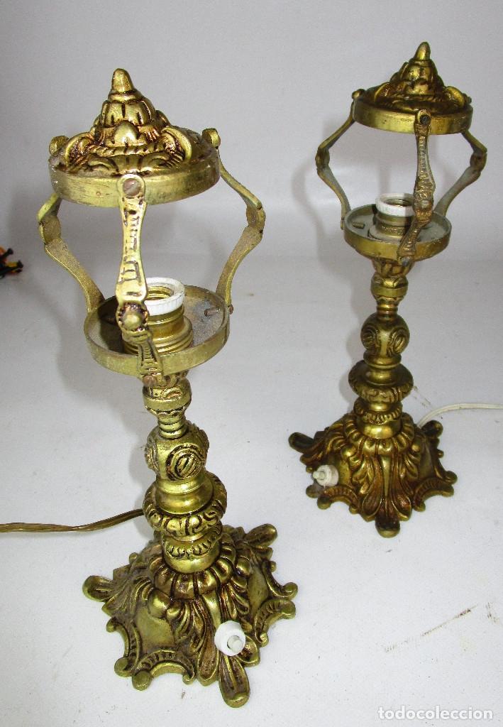 Antigüedades: LAMPARAS ANTIGUAS BRONCE PARA IDEAL ALTAR O MESITAS - Foto 4 - 160475230