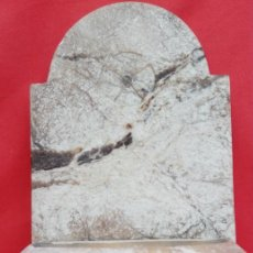 Antigüedades: BENDITERA DE PIEDRA FINALES S. XIX. APARENTA UN MÁRMOL TIPO ONIX. DIM.- 27X16X12.5 CMS.. Lote 160487074