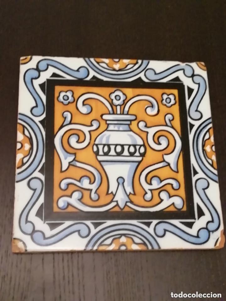 ANTIGUO AZULEJO CERAMICO (Antigüedades - Porcelanas y Cerámicas - Azulejos)