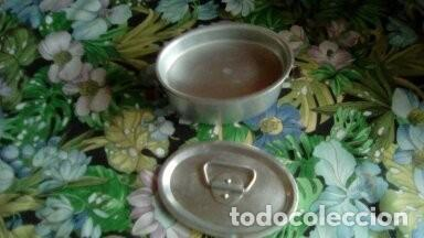 Antigüedades: FIAMBRERA OVALADA DE ALUMINIO-AÑOS 60 - Foto 5 - 160541874
