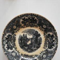 Antigüedades: PLATO PICKMAN S.A. SEVILLA LA CARTUJA 22,5 CM. S.XIX. Lote 160358162