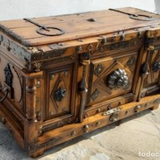 Antigüedades: COFRE DE MADERA,FORJA Y METAL. Lote 160556858