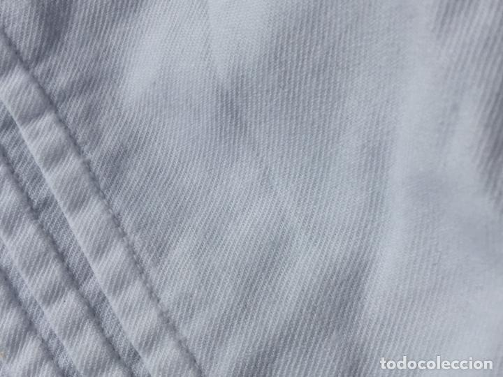 Antigüedades: Precioso vestido de bautizo o cristianar, en algodon franelado en su interior y con puntilla calada - Foto 4 - 160558518