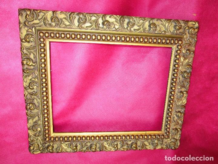 MARCO MADERA DORADO CIRCA 1900 IDEAL PINTURAS OLEOS (Antigüedades - Hogar y Decoración - Marcos Antiguos)