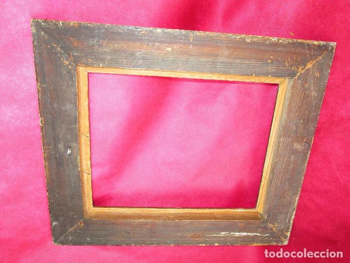 Antigüedades: MARCO MADERA DORADO CIRCA 1900 IDEAL PINTURAS OLEOS - Foto 3 - 160583182