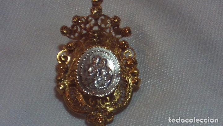 RELICARIO EN FILIGRANA DE PLATA DORADA SIGLO XIX (Antigüedades - Religiosas - Relicarios y Custodias)