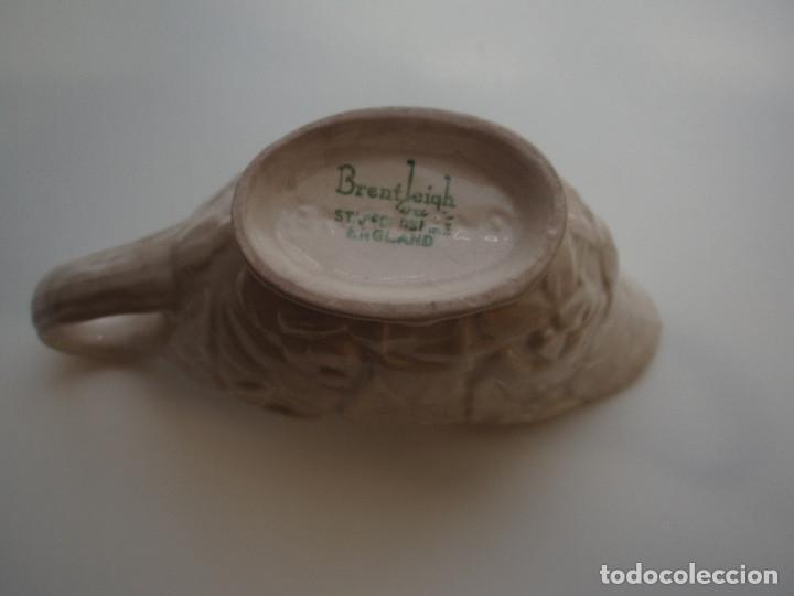 Antigüedades: SALSERA DE PORCELANA. DECORACIÓN FLORAL Y VEGETAL. SIGNADA BRENTLEIGH WARE STAFFORDSHIRE. ENGLAND. - Foto 6 - 160592602