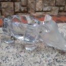 Antigüedades: CENICERO ANTIGUO VINTAGE PESADO RINOCERONTE. Lote 160599442