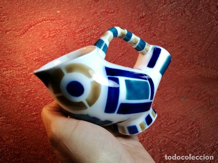 Antigüedades: Jarra forma coruxa lechuza buho de cerámica esmaltada Sargadelos siglo XX - Foto 3 - 160620446