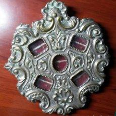 Antigüedades: GRAN RELICARIO - RELIQUIA VIRGEN DE LA MACARENA DOÑA MARIA CORONEL, PADRE TARIN, V DE LOS REYES. Lote 160623586