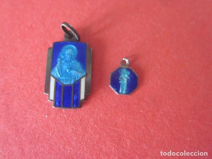 2 MEDALLITAS ANTIGUAS (Antigüedades - Religiosas - Medallas Antiguas)