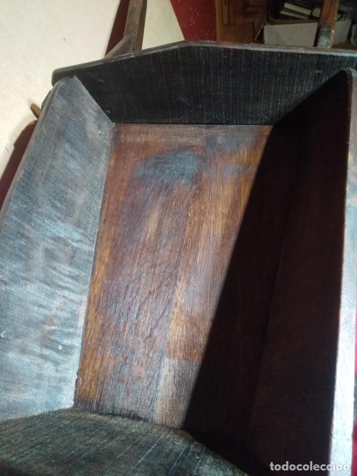 Antigüedades: CARRETILLA DE MADERA DE UNA RUEDA IDEAL TIENDAS Y FLORISTERIAS 110 CM DE LONGITUD - Foto 4 - 160634010
