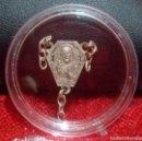 Antigüedades: ANTIGUA PARTE DE ROSARIO *SRA. DEL CARMEN Y IMAGEN DE JESUCRISTO* - EN COBRE Y BAÑO DE PLATA.. Lote 160636706