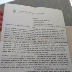 Antigüedades: CARTA DEL REVERENDO MARTÍNEZ ROURA RNE BARCELONA AL REVERENDO FERNANDO CABALLER ALICANTE 1972. Lote 160643230