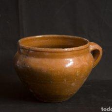Antigüedades: VASIJA OLLA ANTIGUA CAMPANIFORME. BAJO ARAGON.. Lote 160647068