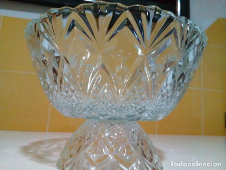 Antigüedades: centro de mesa de cristal tallado - Foto 2 - 160660246