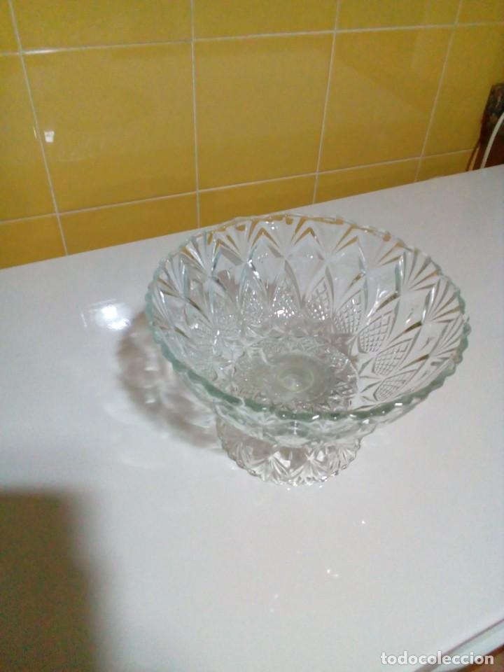 Antigüedades: centro de mesa de cristal tallado - Foto 4 - 160660246