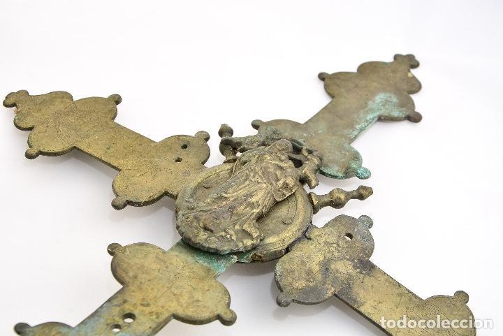 Antigüedades: CRUZ DE PROCESION SIGLO XIX - Foto 2 - 160661966