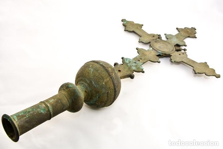 Antigüedades: CRUZ DE PROCESION SIGLO XIX - Foto 3 - 160661966