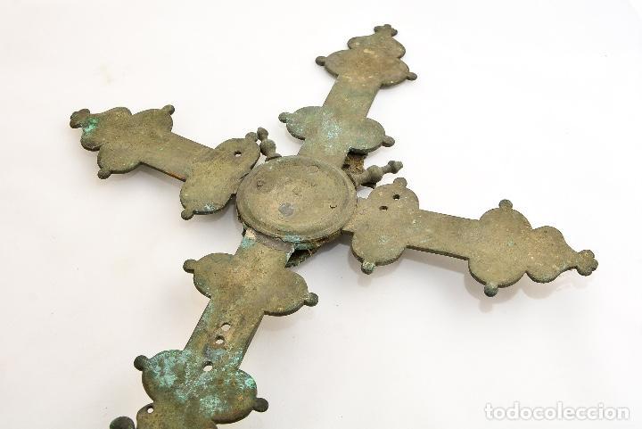 Antigüedades: CRUZ DE PROCESION SIGLO XIX - Foto 4 - 160661966