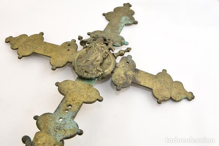 Antigüedades: CRUZ DE PROCESION SIGLO XIX - Foto 5 - 160661966