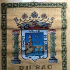 Antigüedades: EXCELENTE REPOSTERO TAPIZ DE BILBAO DE TAPICES ELECCIÓN (77X68CM). Lote 160676062