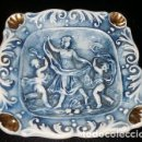 Antigüedades: CENICERO DE PORCELANA R. CAPODIMONTE, DE ITALIA. Lote 160676206