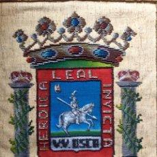 Antigüedades: REPOSTERO TAPIZ DE HUESCA DE TAPICES ELECCIÓN (77X68CM). Lote 160676466