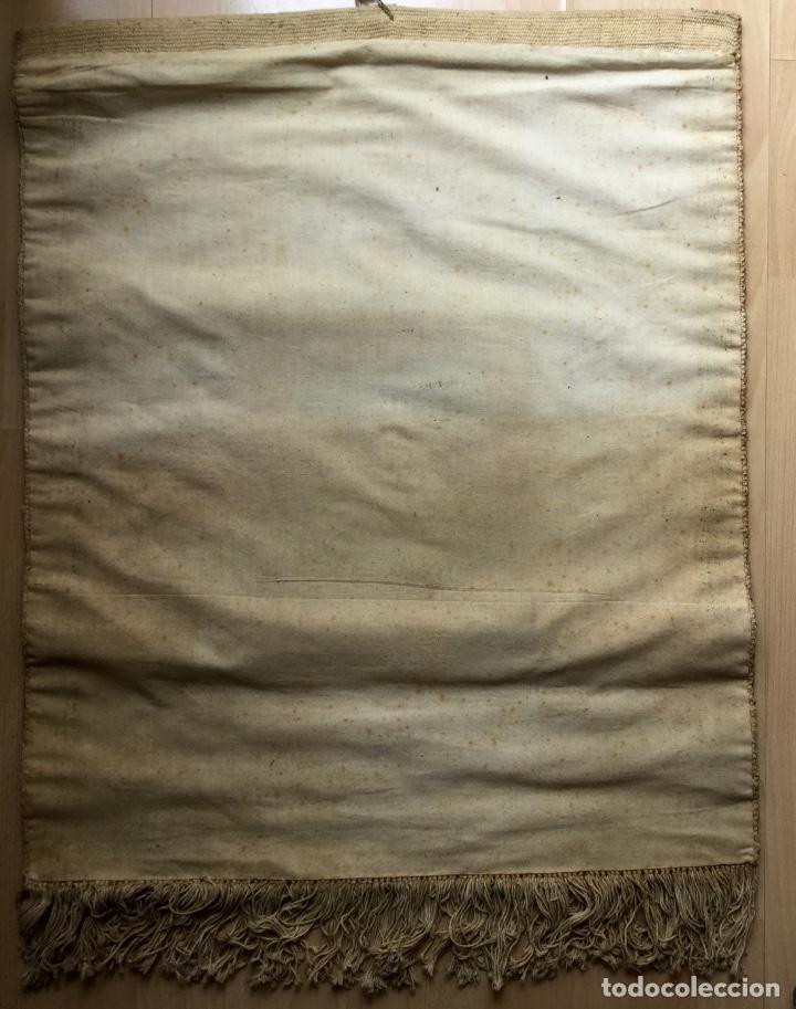 Antigüedades: Repostero tapiz de Huesca de Tapices Elección (77x68cm) - Foto 2 - 160676466
