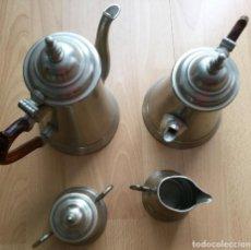 Antigüedades: JUEGO DE CAFÉ/TÉ EN METAL METAWA -TIEL-HOLLAND. Lote 160680306