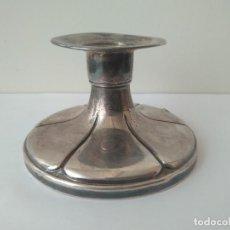 Antigüedades: ANTIGUO CANDELABRO DE PLATA MACIZA DE LEY 916 SIGLO XIX. Lote 160685918