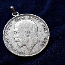 Antigüedades: COLGANTE MONEDA DE PLATA. Lote 160700234