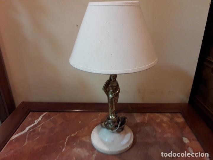 LÁMPARA DE SOBREMESA BRONCE (Antigüedades - Iluminación - Otros)