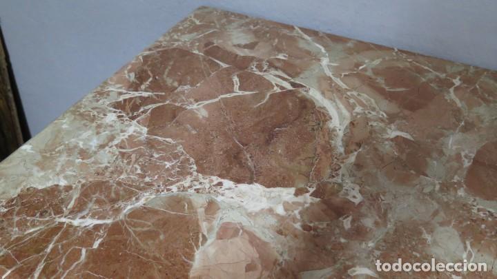 Antigüedades: ANTIGUA COMODA DE NOGAL CON SOBRE DE MARMOL - Foto 8 - 160715310