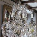 Antigüedades: BONITA LAMPARA DE CRISTAL . Lote 160715986