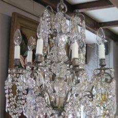 Antigüedades: BONITA LAMPARA DE CRISTAL. Lote 160715986