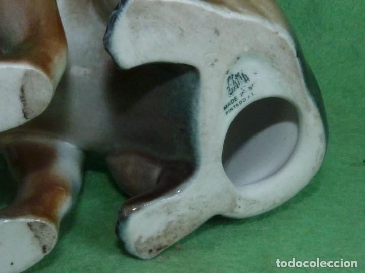 Antigüedades: GENIAL PAREJA PERRO CHIGUAGUA PUBLICIDAD FIGURA PORCELANAS GAMA VALENCIA TAMAÑO REAL - Foto 8 - 160716158