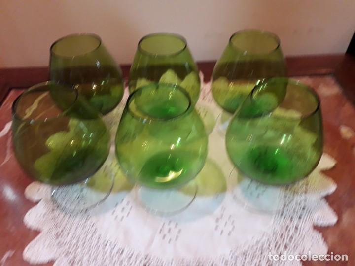 SEIS COPAS DE COÑAC (Antigüedades - Cristal y Vidrio - Otros)