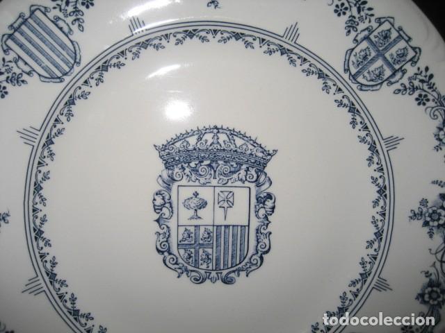 Antigüedades: PLATO PORCELANA ESCUDO DE ARAGON. CAJA AHORROS ZARAGOZA ARAGON Y RIOJA. - Foto 2 - 160725646