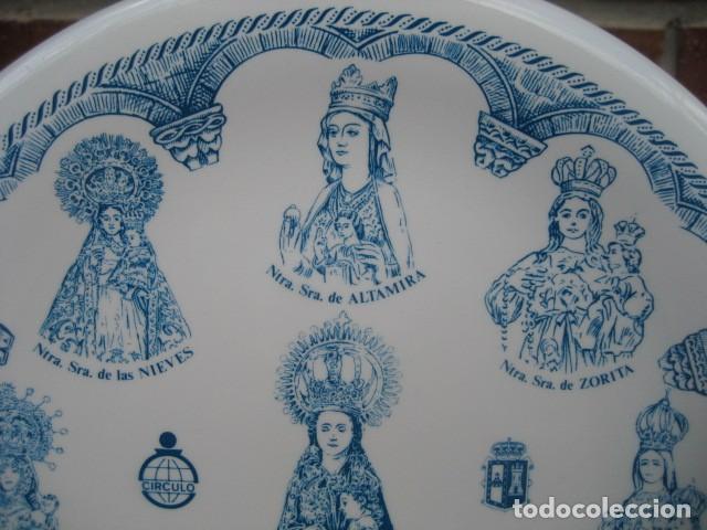 Antigüedades: PLATO PORCELANA. AÑO SANTO MARIANO BURGOS 1988. 9 VIRGENES. CAJA AHORROS CIRCULO CATOLICO - Foto 3 - 160726826