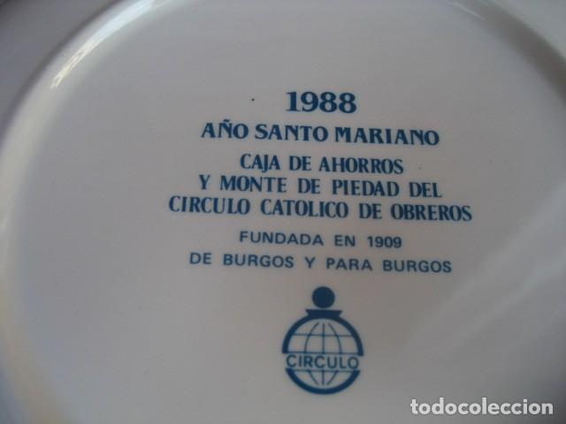 Antigüedades: PLATO PORCELANA. AÑO SANTO MARIANO BURGOS 1988. 9 VIRGENES. CAJA AHORROS CIRCULO CATOLICO - Foto 5 - 160726826