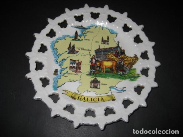 PLATO DE GALICIA. LA CORUÑA, LUGO, ORENSE, PONTEVEDRA (Antigüedades - Hogar y Decoración - Platos Antiguos)