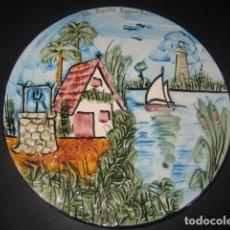 Antigüedades: PLATO PUERTO DE SAGUNTO, VALENCIA (DIBUJO EN RELIEVE). Lote 160729794