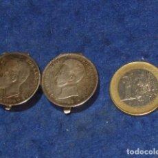 Antigüedades: ANTIGUO PASTILLERO DE PLATA HECHO CON MONEDA DE ALFONSO XIII.. Lote 160732358